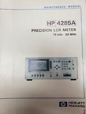 Hp 4285a Preciaion Lcr Meter Maintenance manual 75khz - 30mhz