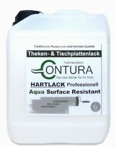 Hartlack Thekenlack Klarlack Universallack 18,6€L Möbellack Parkettlack Holzlack