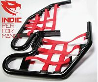 Yamaha Raptor 660 2005-01 Quad ATV Nerf Bars Nets & Fittings Black P (RedN) #07