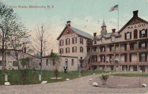 1913 Postcard HOTEL WALDO Middletown NY Used Leighton & Valentine Co X