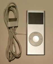 APPLE iPod Nano (2nd generation) A1199 Silver 4GB MP3 Player w/ Cord