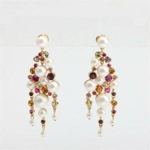 Kate Spade New York Pearl Caviar Statement Earrings Multi