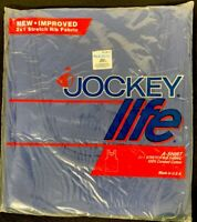Vintage 80s JOCKEY LIFE A-Shirt Small 34-36 Tank Top New Navy Blue