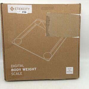 Fitness 400lb Etekcity Digital Glass Body Weight Scale Model EB4074C