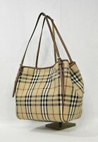 NWT Burberry Horseferry Check Small Canterbury Tote in Honey/Tan. Classic Canter