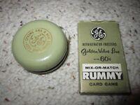 1960's GE Rummy Card Game & GE Yo-Yo!!!!