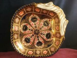 Rare Antique Royal Crown Derby Imari  1128  Shell Dish  /  Bowl  Dated 1885