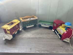 Vintage 1973 Fisher Price Little People 4 Piece Circus Train 991