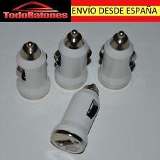 ADAPTADOR CARGADOR USB MECHERO PARA IPHONE SAMSUNG LG SONY CARGA COCHE 1A BLANCO