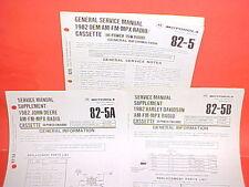 1982 HARLEY DAVIDSON MOTOROLA CASSETTE TAPE/AM-FM/MPLX RADIO SERVICE MANUAL