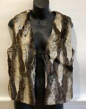 Anthropologie Faux Fur Vest Small Cream Brown Rn 83059