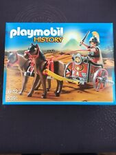 Playmobil History 5391 Char romain rouge + 1 personnage et 2 chevaux  NEUF