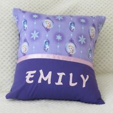 FROZEN (Elsa) Child's/Girls Personalised Character Cushion Cover / GIFT IDEA