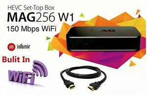 MAG 256w1 Genuine Original Infomir IPTV Set Top TV Box With Built-In Wi-Fi 420