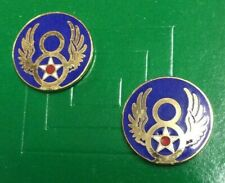 """USAF 8TH AIR FORCE CREST - HAT / LAPEL PIN - MEASURES APPROX. 3/4"""" - NOS"""