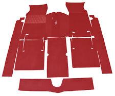 Dark red Velours Carpet Set for Fiat 124 Sport Coupe 1967-1972 Carpet Kit