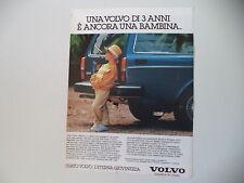 advertising Pubblicità 1984 VOLVO STATION WAGON