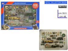 GIOCO IN METALLO DIE CAST AUTOMEZZI militari 48x35,5cm