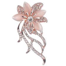 Fashionable Opal Stone Flower Women Garment Accessories Jewelry Brooch Pin M