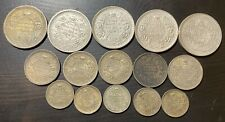 British India Coins - 5 Of Each 1 Rupee, 1/2 Rupee, 1/4 Rupee 1942, 1944, 1945