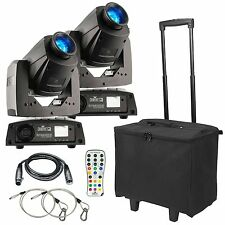 2 x Chauvet Intimidator Spot 255 IRC 60W LED Moving Head& Micron Booth starcloth