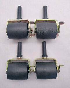 Set of 4 Caforo Locking Metal Bed Frame Casters - Roller Wheels With Brake