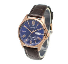 -Casio MTP1384L-2A Men's Strap Fashion Watch Brand New & 100% Authentic
