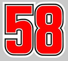 #58 SIMONCELLI 45mmX50mm AUTOCOLLANT/STICKER MOTO GRAND PRIX (CA127)