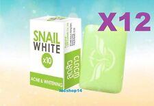 12pcs Snail White X10 Green Soap Acne & Whitening Glutathaione