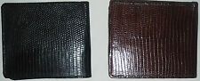 Wallet in lizard leather monitor original, black colour