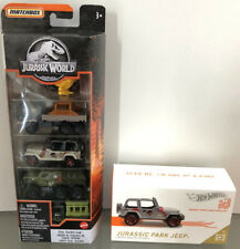Lot NEW Jurassic World Matchbox 5-PACK Total Tracker & Hot Wheels id Park Jeep