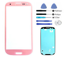 Pink front Outer glass lens screen replacement For Galaxy S3 i9300 Adhesive Tool