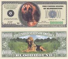 10 Blood Hound Dog Bloodhound Novelty Money Bills Lot