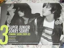 Super Junior Sorry 2009 Taiwan Promo Poster (B ver.) Sung Min ,Hee Chul ,Ki Bum