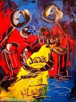DRUMS  ORIGINAL OIL CANVAS  PAINTING CONTEMPORARY ART░▒TSDFH