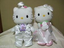 Hello Kitty & Daniel Wedding Dress Bridal Plush Doll Sanrio 2008 Rare NWT