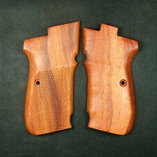Rosewood Checkered Grips Set For CZ 83 #241 New