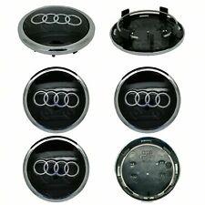 4 x Audi Aleación Centro De Rueda Caps 69mm negro-OEM Fit A1 A3 A4 A5 A6 A7 Q3 Q5 Q7