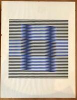Carlos Cruz Diez 1973 Serigraph 109/175 Authentic good condition