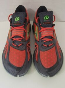 Brooks Pure Grit  Neon Orange/Green Men Sz 10D Women 11.5D Trail Running shoe