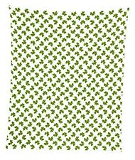"Gold Outline Clovers Mircofleece Throw Blanket 50""x60"""