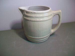"Uhl Pottery Co Huntingburg,  IND Large Barrel Mug 5 1/4"" Tall 4 1/4"" Diameter"
