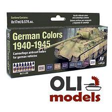 GERMAN AFV VEHICLES COLORS 1940-1945 Model Air Paint Set 8x17ml - Vallejo 71206