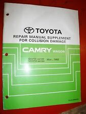 1992 TOYOTA CAMRY WAGON FACTORY COLLISION DAMAGE REPAIR MANUAL SUPPLEMENT SXV10