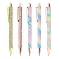 Ballpoint Pens, 5Pcs Retractable Pen Black Ink Medium Point (1.0Mm) Click B T1H5