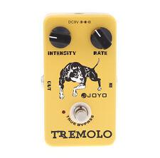 New Yellow Joyo JF-09 Aluminum Alloy Tremolo Guitar Effect Pedal True Bypass