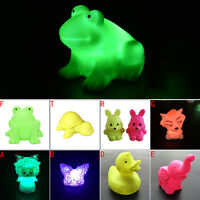 Magic LED Night Light Frog Shape Colorful Changing Lamp Room Bar Decor LAUS