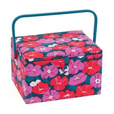SEWING BASKET BOX 'MODERN FLORAL' DESIGN Large Size SUPER QUALITY MRL588