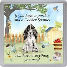 "Cocker Spaniel Dog Coaster ""If you have a garden ...."" Novelty Gift by Starprint"