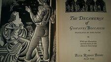 THE DECAMERON OF GIOVANNI BOCCACCIO 1931 Antiquary Collectible Blue Ribbon Books